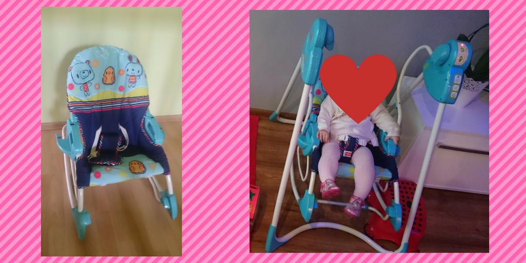 Huśtawka, leżaczek, bujaczek, krzesełko dla dzieci Fisher Price.