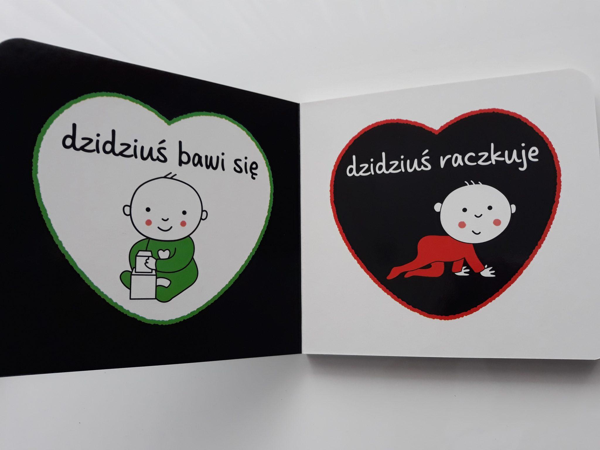 Książeczka kontrastowa Świat dzidziusia, czynności codzienne. Książki dla niemowląt.