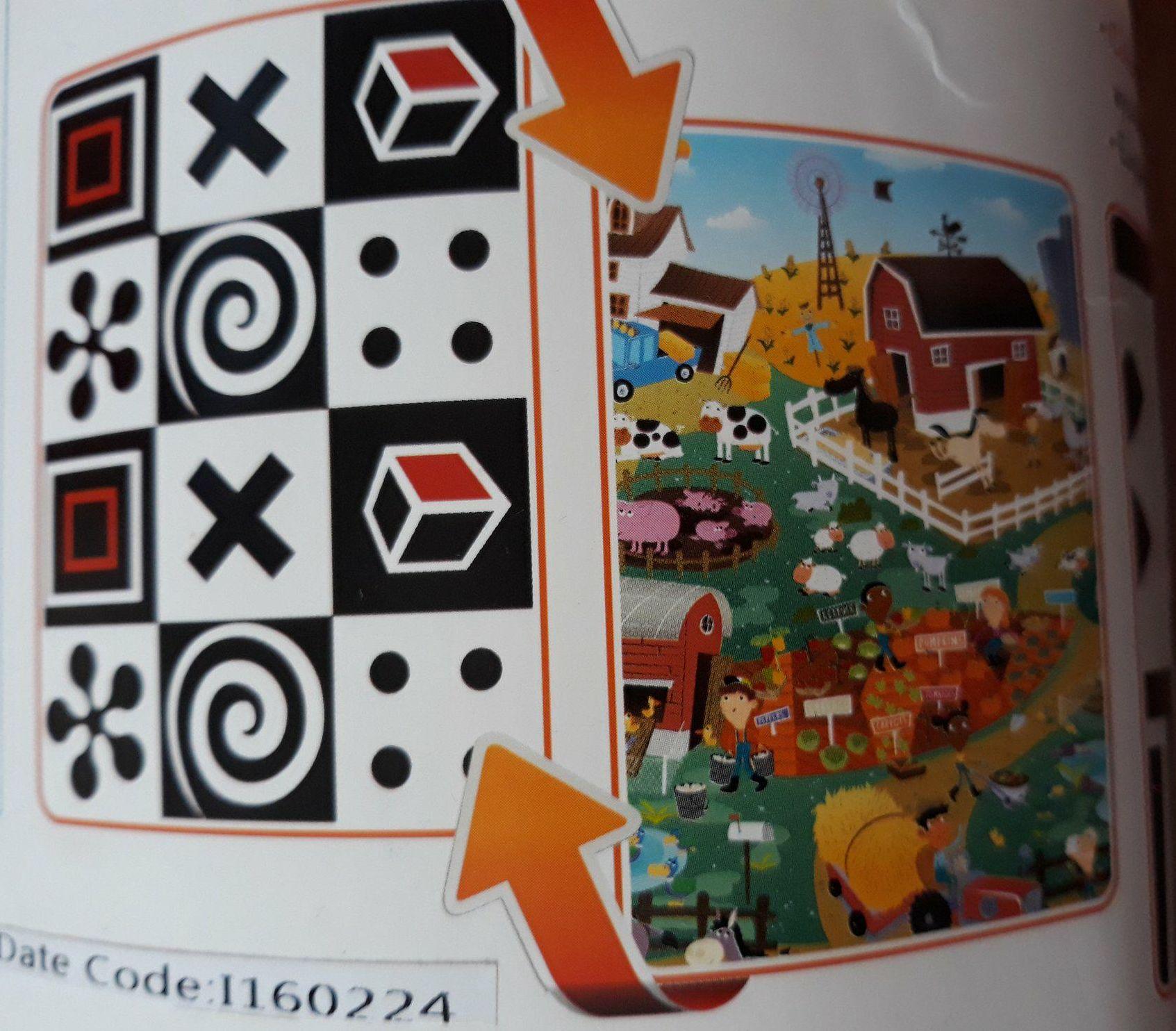 Dwustronna mata edukacyjna dla dzieci firmy Prince Lioneheart.