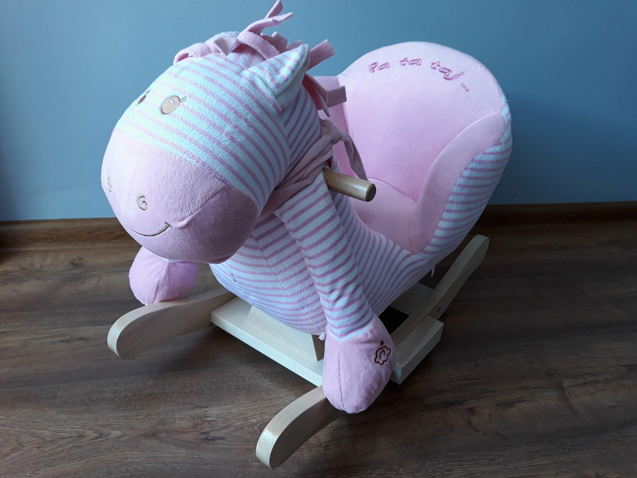 Bujak dla dzieci. Zebra/koń nabiegunach różowy.
