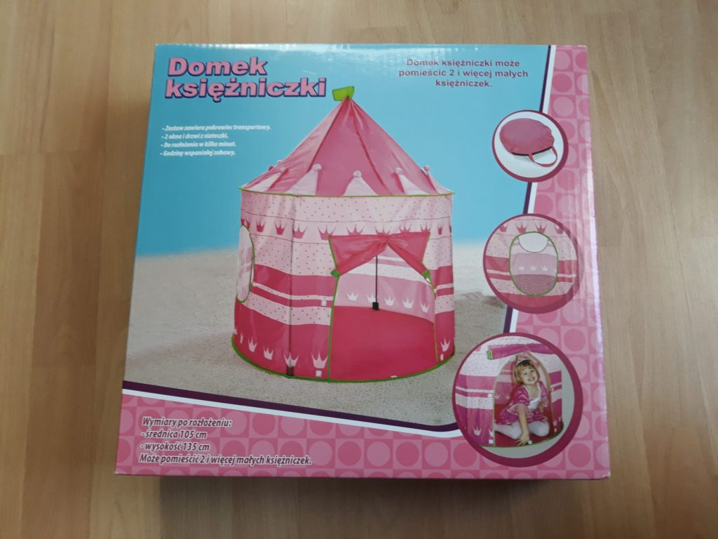 Namiot dla dzieci, domek księżniczki, Prezenet nadwa latka.