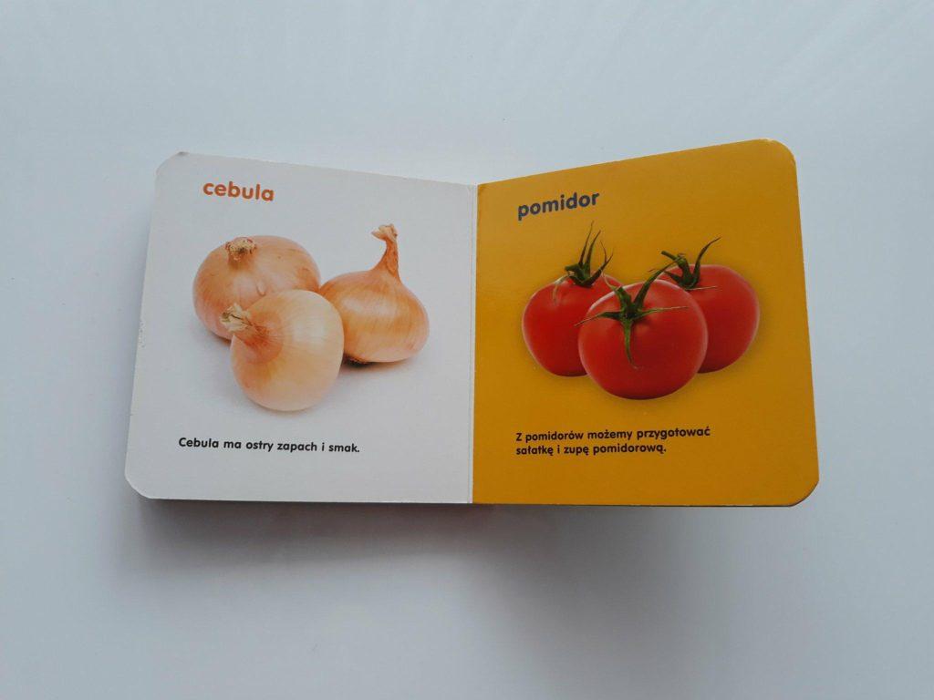 Warzywa iowoce. Książka wspierająca rozwój mowy.