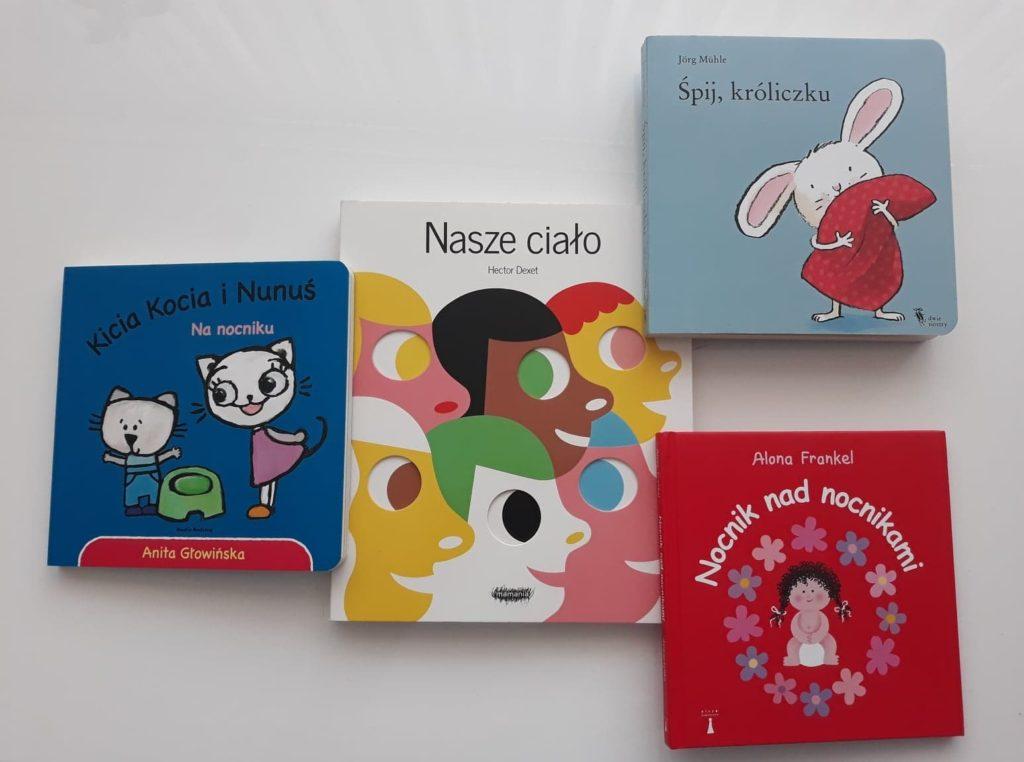 Książki dla dwulatka. Kicia Kocia, Nanocniku, Nasze ciało, Śpij króliczku,