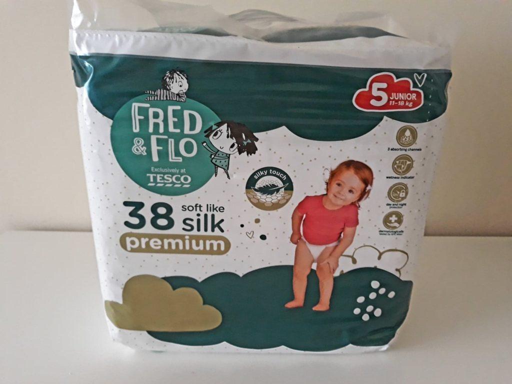 Fred&Flo Premium. Pieluchy zTesco.