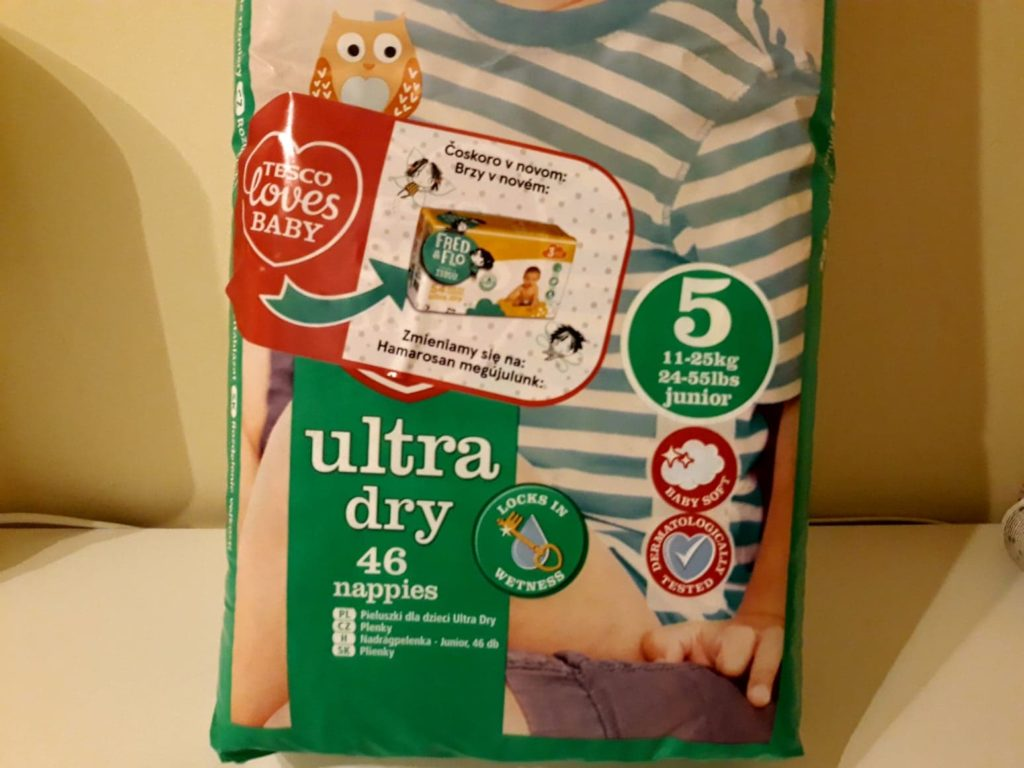 Pieluchy Tesco Loves Baby Ultra Dry 5.