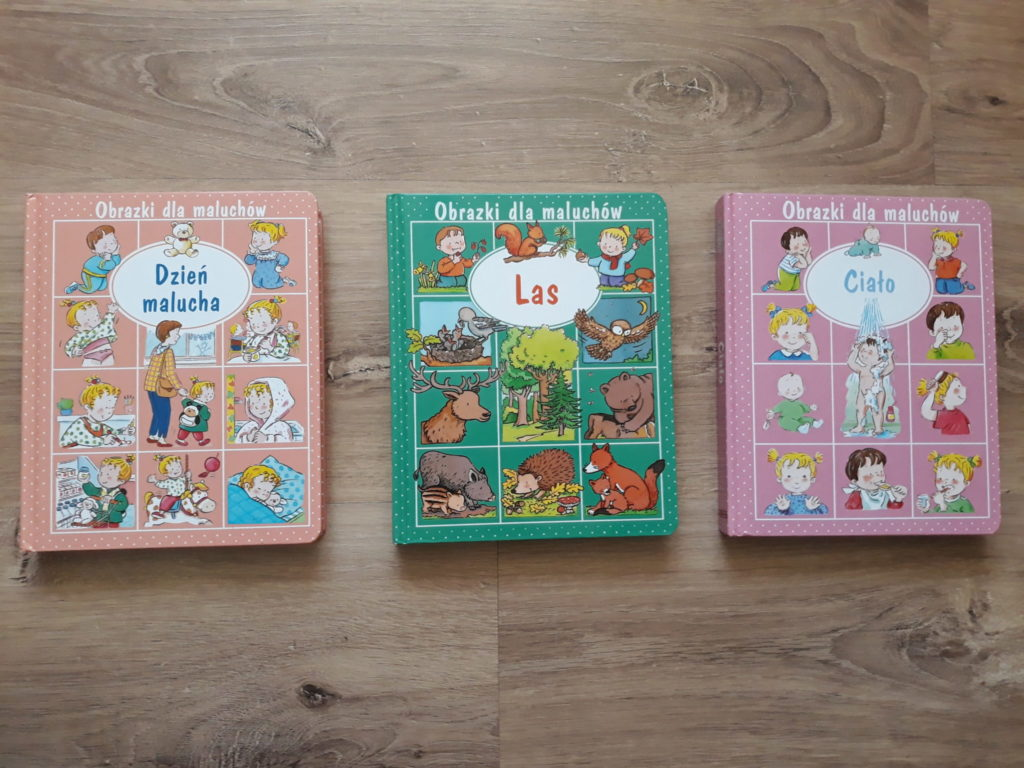 Obrazki dla maluchów, książki.
