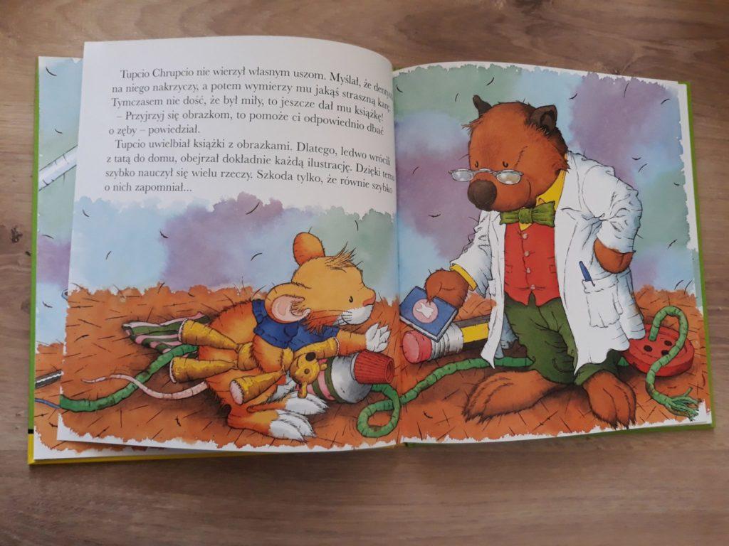 Tupcio Chrupcio Dbam ozęby. Książka dla dzieci.