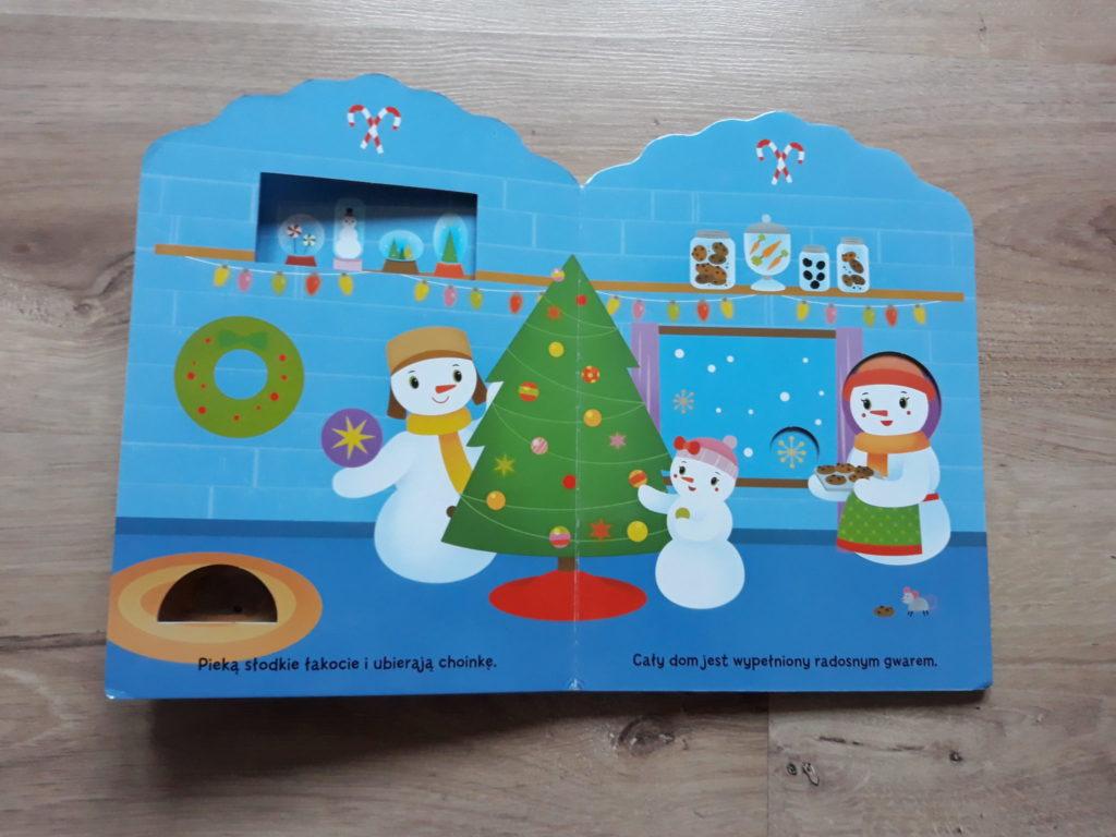 Święta uBałwanków książka dla dzieci.