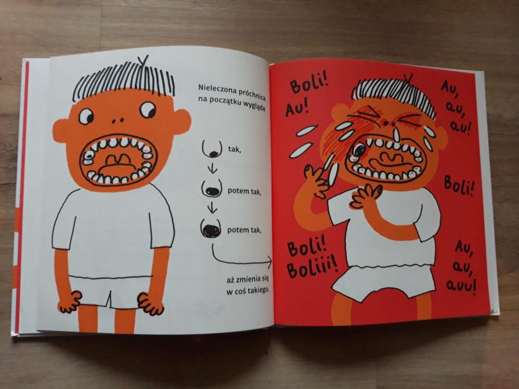 Zęby, książka naprezent dla dzieci.