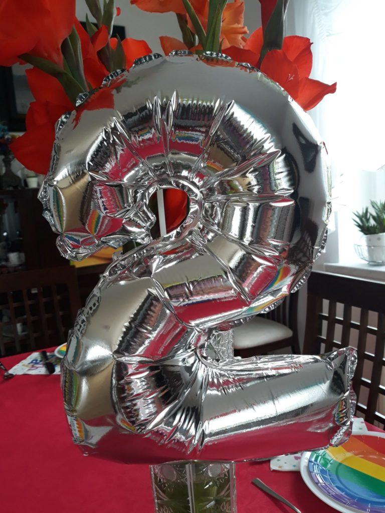 Balon cyfra urodziny.