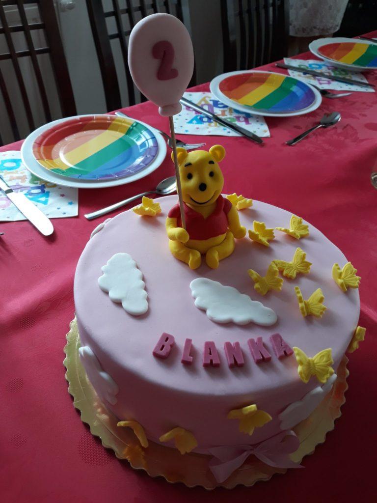 Kubuś Puchatek tort.
