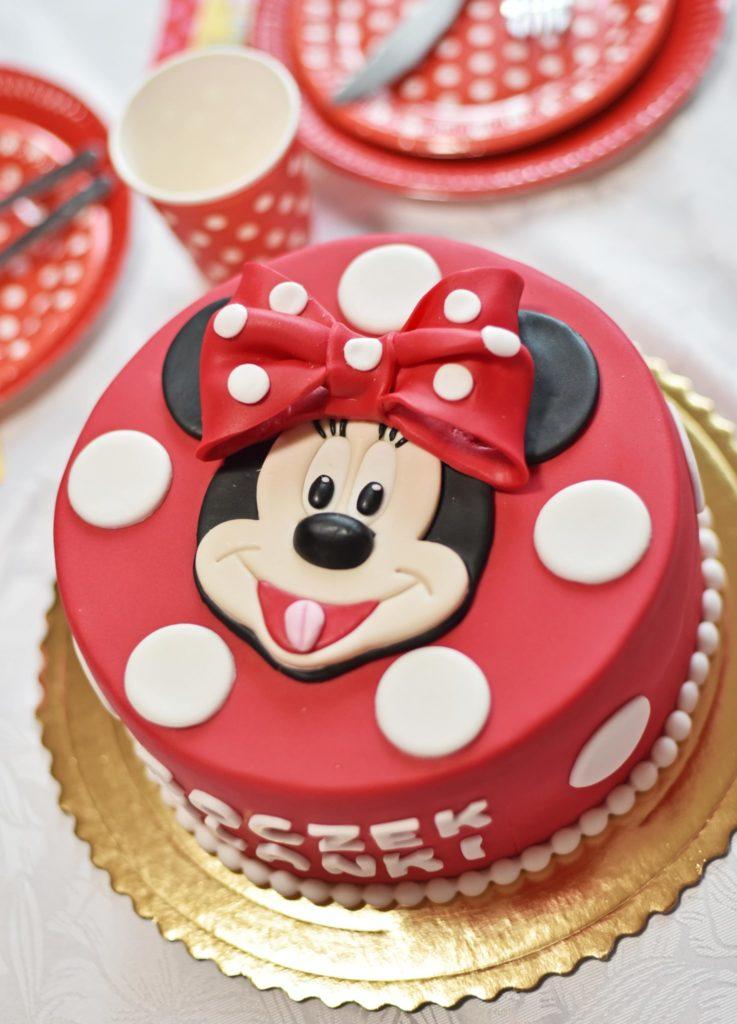 Tort urodzinowy Myszka Minnie.