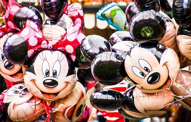 Myszka Minnie, Myszka Mickey balony.