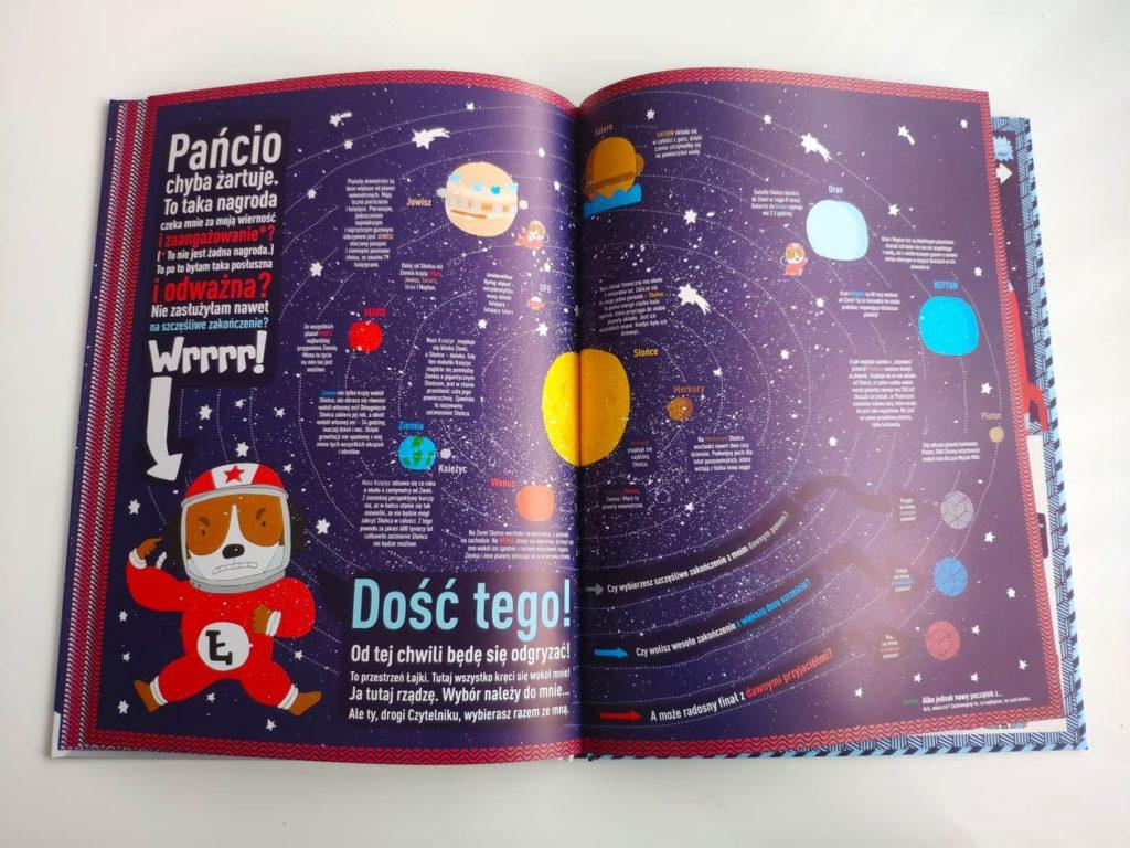 Łajka kosmiczny pies. Poznawanie układu planetarnego.